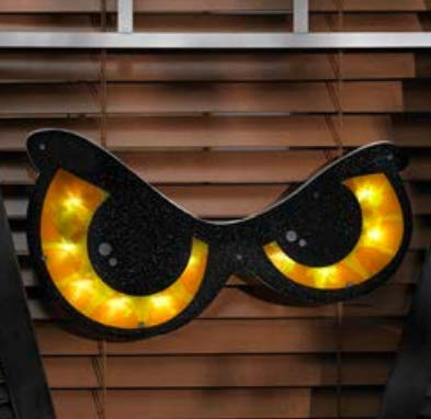 Halloween Lighted Eyes Window Decoration -