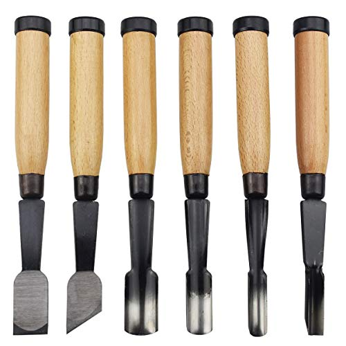 6 Pieces Professional Wood Carving Chisel Set Woodworking Tools for Wood Carving and Woodwork