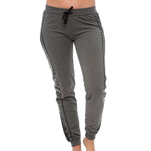 [E373XP-HC-2X] Coco-Limon Plus Size Joggers - Long Fleece Love Print