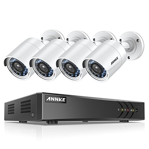 ANNKE Security Camera Systems 4CH 1080P Lite H.264+ DVR and