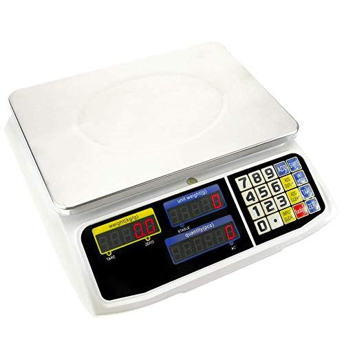 PrimeMatik - Balanza mostrador de sobremesa con Bandeja de 300x205 mm Báscula de Tienda de 3 Kg: Amazon.es: Electrónica