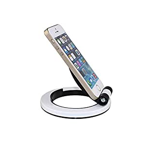 Teléfono Móvil Soporte de sobremesa para iPhone 6 iPad Air 2 iPad mini Tablet PC Samsung Galaxy S5 S4, S3, S2, Note4 Note3 Note2, Blackberry Tablet Color blanco