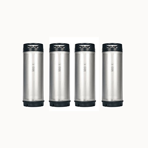 HomeBrewStuff (4 Pack) 5 Gallon Amcyl Ball Lock Cornelius Style Keg with Rubber Bottom and Top - New ()