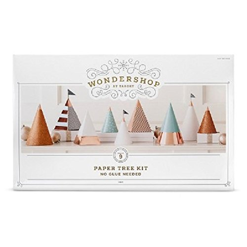 - DIY Figural Paper Trees Winter Mountain-9 ct.