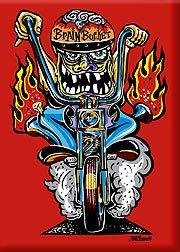 Artista un mundo de Von Bucker Brain para moto Monster para moto ...