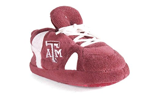 TAM03PR - Texas A & M Aggies NCAA Happy Feet Baby Slippers ()