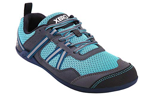 Xero Shoes Prio - Women's Minimalist Barefoot Trail and Road Running Shoe - Fitness, Athletic Zero Drop Sneaker - Robin's Egg Blue (The Best Egg Drop Design)