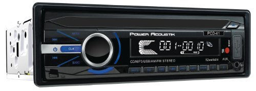 Power Acoustik PCD41B 1-DIN CD/MP3 RECEIVER with AM/FM 32GB U