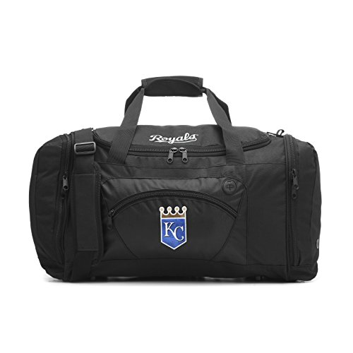 The Northwest Company MLB Kansas City Royals Roadblock Embroidered Duffel Bag, 20-Inch, Black
