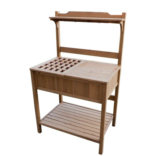 (Merry Garden Potting Bench with Recessed Storage)