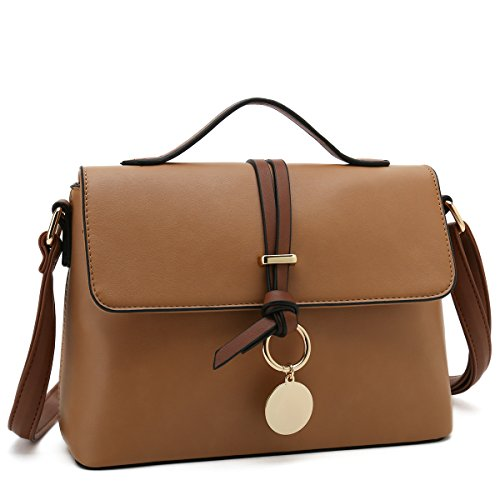Fashion Shoulder Bags for Women Designer Cross Body Purses Trendy Ladies Handbag (Type 2 Light Brown) ()