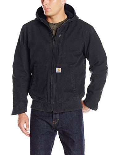 (Carhartt Men's Sandstone Full Swing Active Jacket, Black, Large)