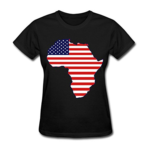 Spreadshirt African American Continent Flag Women's T-Shirt, XL, Black by Spreadshirt