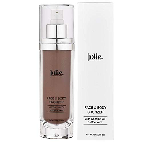 Jolie Face & Body Bronzer With Coconut Oil & Aloe Vera - Subtle Shimmer 100g