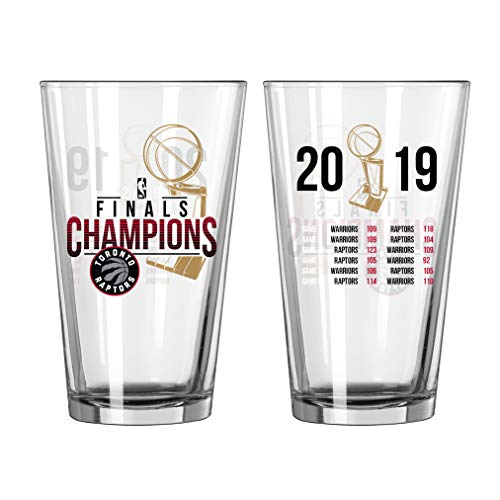 Boelter Brands Toronto Raptors 2019 NBA Finals Champions Game Scores Clear Pint Glass