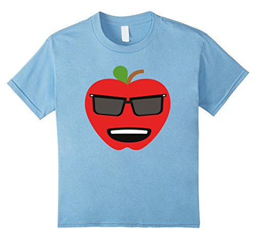 Kids T-Shirt Fun Emoticon Smile Happy Sunglasses Fruit Strawberry 4 Baby Blue