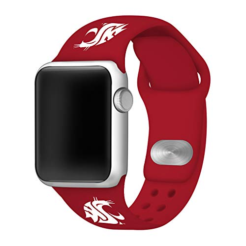 Affinity Bands Washington State Cougars Silicone Sport Band Compatible with Apple Watch - Band ONLY ()
