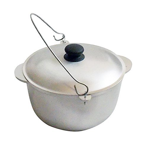 Camp Cast Aluminum Outdoor Cooking Campfire Pot Pan Wok Cauldron Kettle with Lid (15 L / 508 oz)