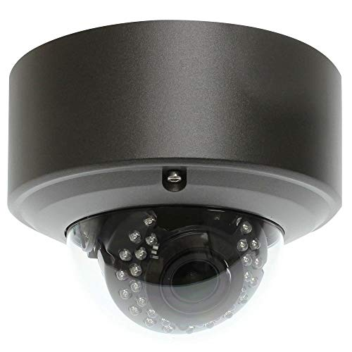 GW Security 5MP H.265 Super HD 2592 x 1920P Network PoE Weatherproof Security Dome IP Camera with 2.8-12mm Varifocal Zoom Lens (Renewed)