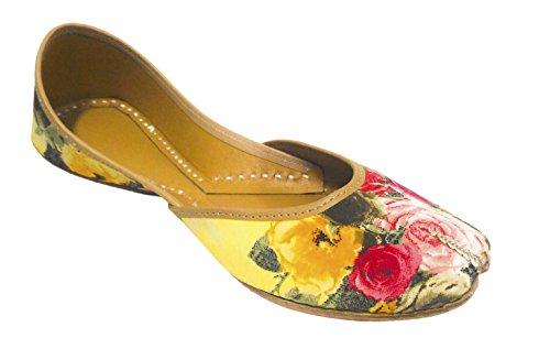 Coral Haze Chaussures plates de la femme Floral Imprimer Chaussures Multicolor Party Wear Belle EU-37