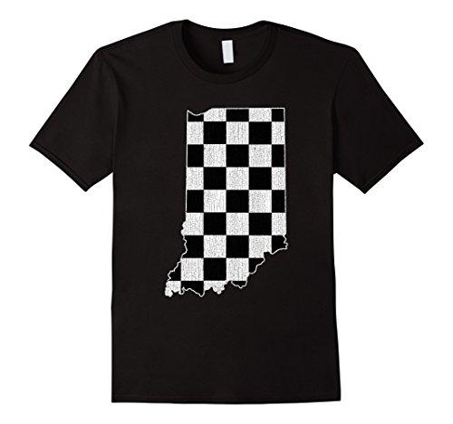 Mens Indianapolis Indiana State T Shirt Vintage Distressed Look Medium Black