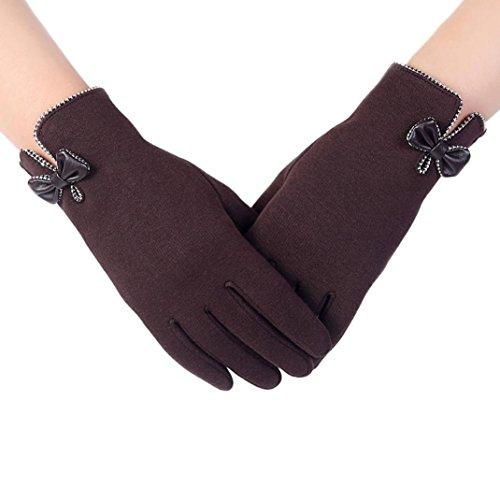 Soft Winter Warm Gloves,Hemlock Women's Fashion Touch Screen Outdoor Sport Gloves (Coffee)