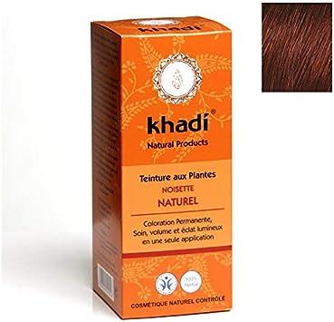 Khadi – Tinte vegetal de avellana natural, 100 g, lote de 2 ...