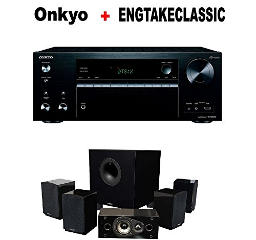 Onkyo Powerful Audio & Video Component Receiver Black (TX-NR676) + Energy 5.1 Take Classic Home Entertainment System (Set of Six, Black) Bundle by Onkyo