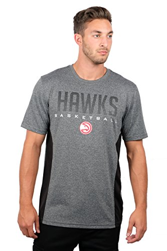 NBA Atlanta Hawks Men's T-Shirt Athletic Quick Dry Active Tee Shirt, X-Large, Charcoal