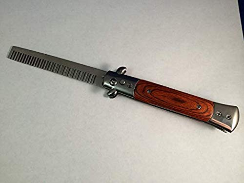 Wood Brown Handle Italian Style Fully Automatic Comb