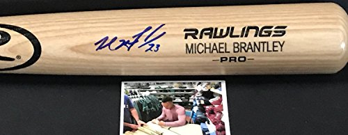 Michael Brantley Houston Astros Autographed Signed Pro Model Full Size Black Baseball Bat