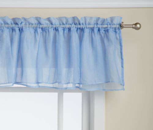Lorraine Home Fashions Gypsy Shabby Chic Layered Ruffle Window Valance  60 By 15 Inch  Blue