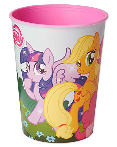 American Greetings My Little Pony Party Supplies 16 oz. Reusable Plastic Party Cup, 12-Count]()