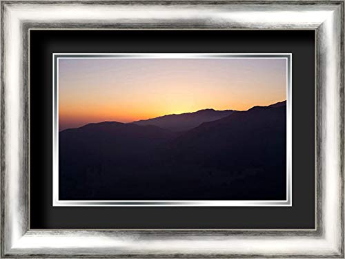 Dusk 24x17 Silver Contemporary Wood Framed and Double Matted (Black Over Silver) Art Print by Stewart, Wil