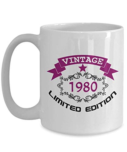 Happy 38th Birthday Mugs for Women Funny 11 Oz - Vintage 1980-38 Year Old Birthday - 38th Birthday Gifts Ideas For Wife, Women, Her, Guys For Birthday Or Christmas - Ceramic Coffee Mug Tea Cup -