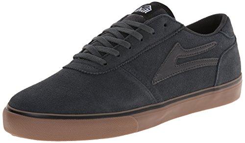 Lakai Men's Manchester Skateboarding Shoe, Black/Gum Suede, 11.5 M US