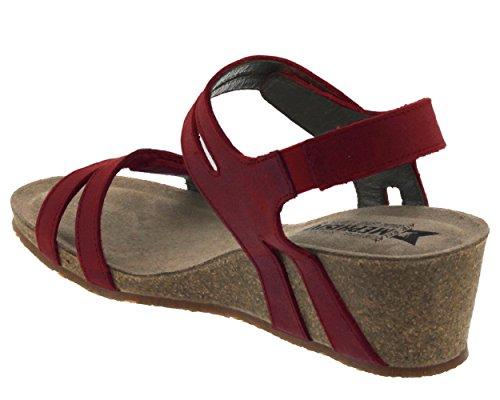 MEPHISTO rouge pieds 2048 MINA Red Femme Sandales Nu Bq6zBwxr4
