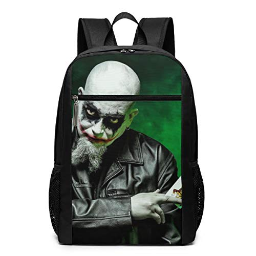 Insane Clown Posse Joker Cards - Cheny ICP Joker Cards Kid Lightweight Canvas Travel Backpacks School Book Bag 17 Inch Black