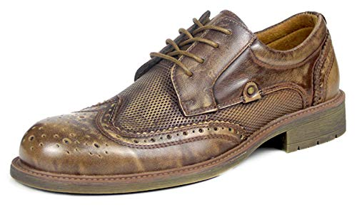 Marrone Vintage Pelle SimpleC Basse Uomo Traspirante Stringate in Oxford Scarpe wPzqazEBx