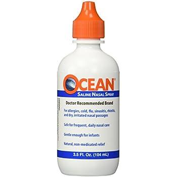 OCEAN Saline Nasal Spray 3.5 oz (Pack of 2)