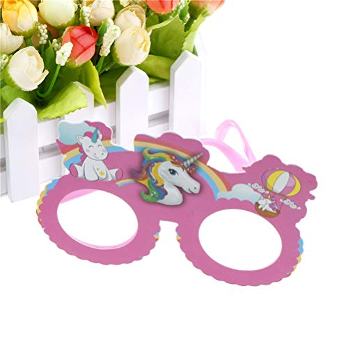 (Party DIY Decorations - Birthday Gift Wedding Decoration Party Favors Funny Pink Unicorn Costume Glasses Sunglasses Mask - Mask Prop Mask Latex Costum Decor Horse Party Unicorn Funny)