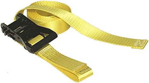 アヴィエラン(AVIELAN) ラッシングベルト 50mm幅 エンドレス 5.0m イエロー