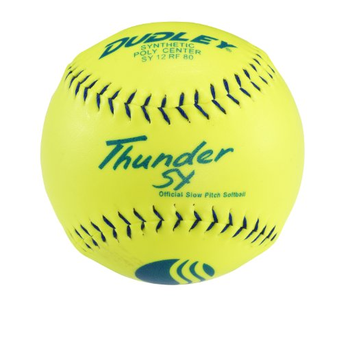 Dudley USSSA Thunder SY Slow Pitch Synthetic Soft Ball - Dozen