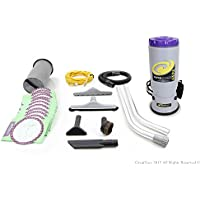"""NEW 2014 Proteam QuarterVac Backpack 6 qt Vacuum Cleaner with 1 1/2"""" tool kit Quarter Vac"""