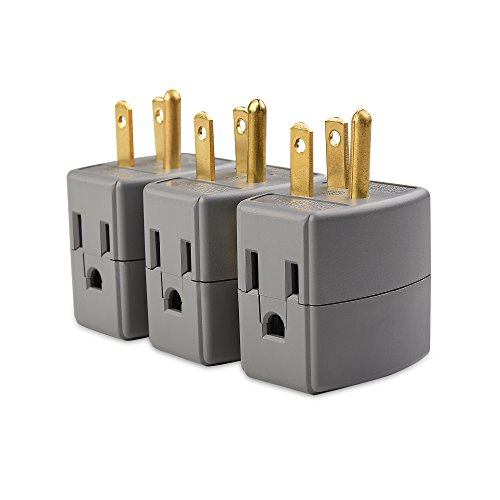 Cable Matters (3-Pack) 3-Outlet Grounded Cube Wall Tap