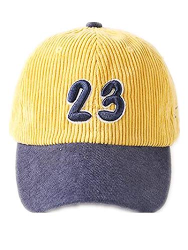 YF Children Baseball caps,Baby Peaked caps,Corduroy Warm Hats,Letter Embroidered hat