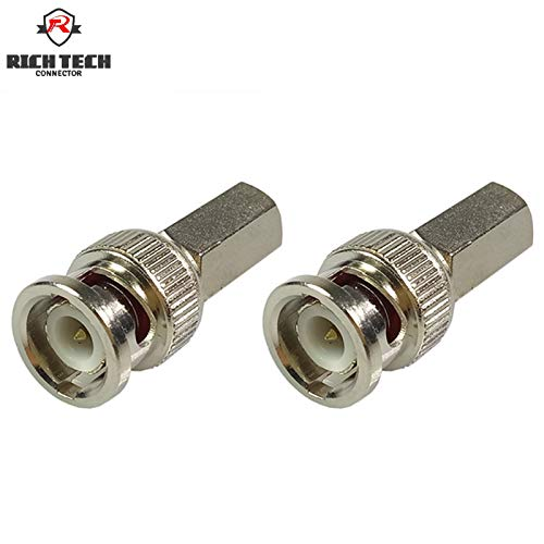 (Davitu 8pcs BNC Male Plug Twist On for RG58 RG59 RG6 Coaxial Cable BNC Twist On - (Color: RG6))