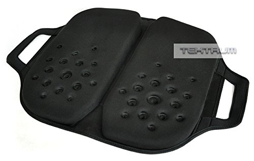 Tektrum Foldable Orthopedic Cool Gel Seat Cushion with Handle for Home, Office, Car, Chairs, Travel - Relief for Back Pain, Tailbone, Sciatica, Prostate, Postnatal, Postoperative Pain (TD-GS1203-BLK)