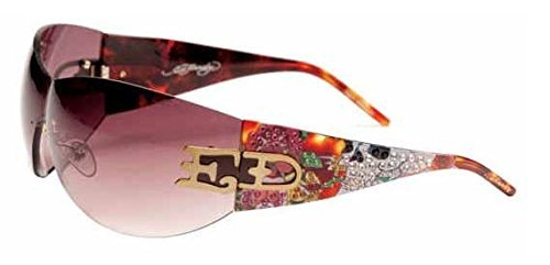 Ed Hardy EHS052 Sunglasses - Tortoise