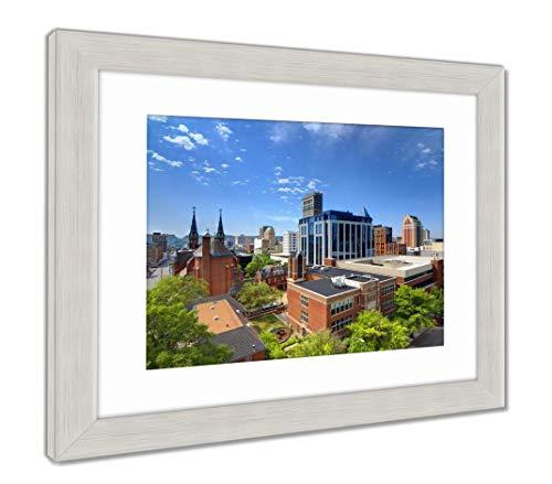 (Ashley Framed Prints Downtown Birmingham, Alabama, Wall Art Home Decoration, Color, 34x40 (Frame Size), Silver Frame, AG32675360)